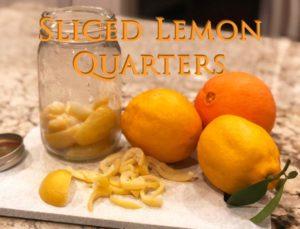 Sliced Lemon Quarters